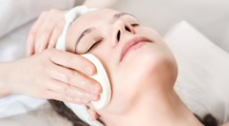facial massage and skincare